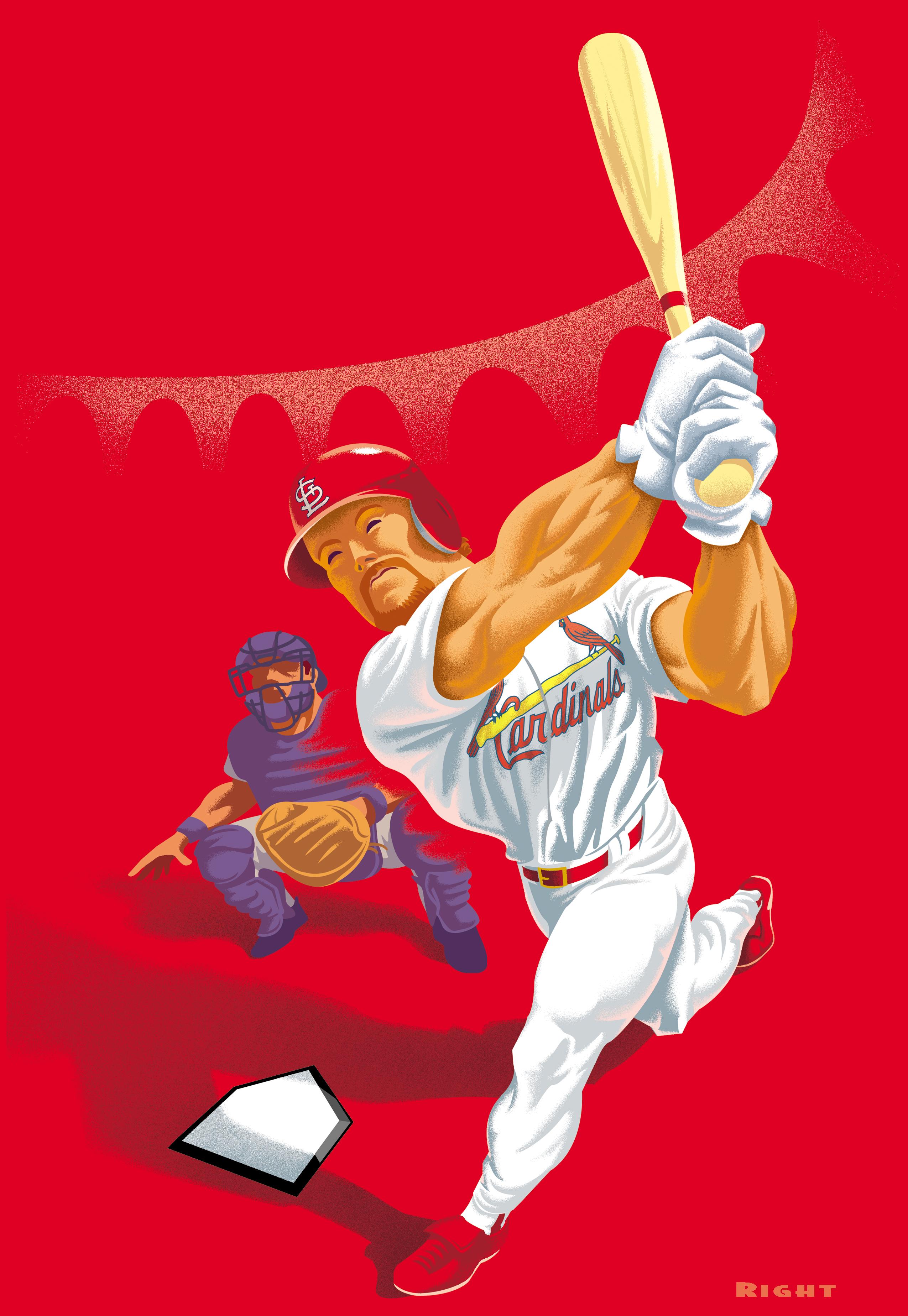 Cardinals McGwire Poster Art