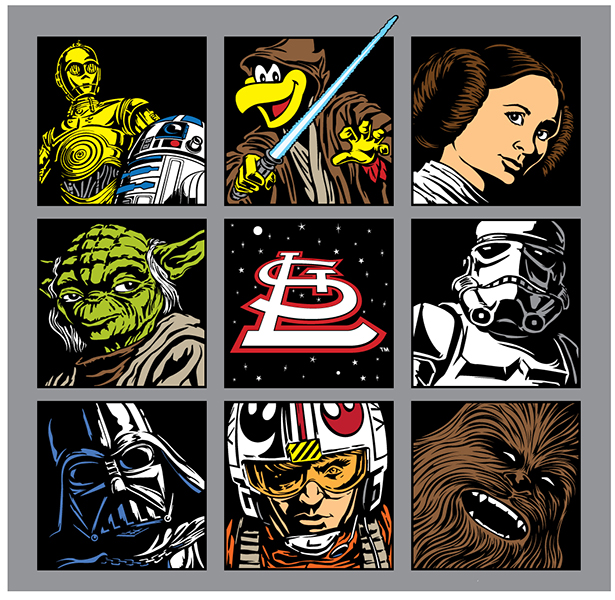 St. Louis Cardinals Star Wars Night Art.