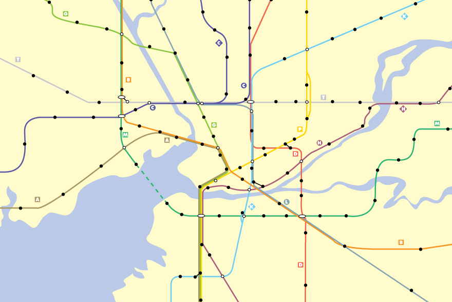 Transit Map Art