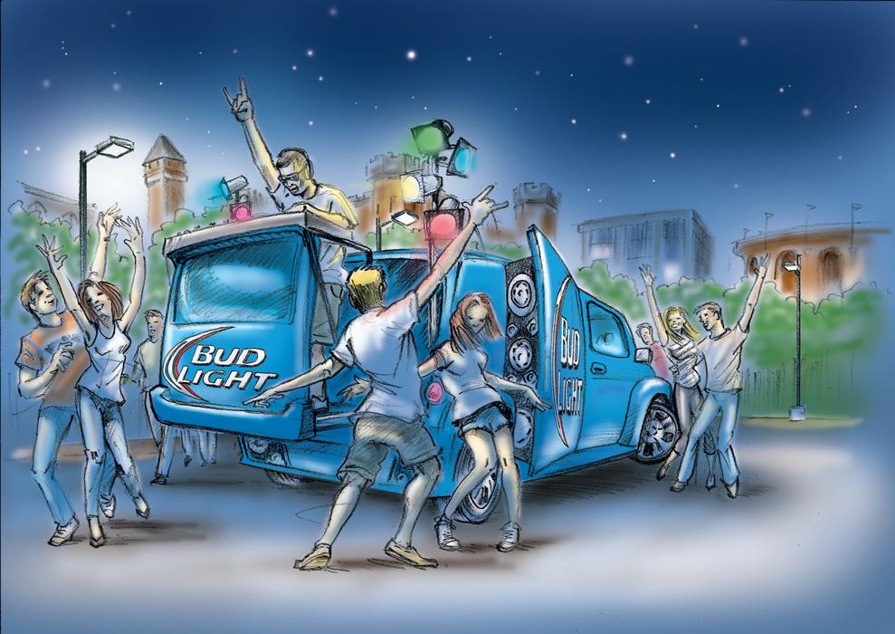 Bud Light Mobile DJ Vehicle
