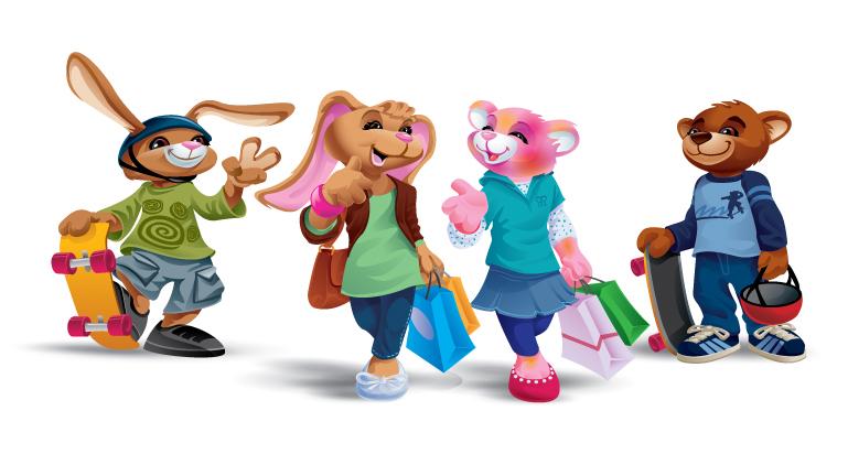 Build-a-Bear Character Development Art