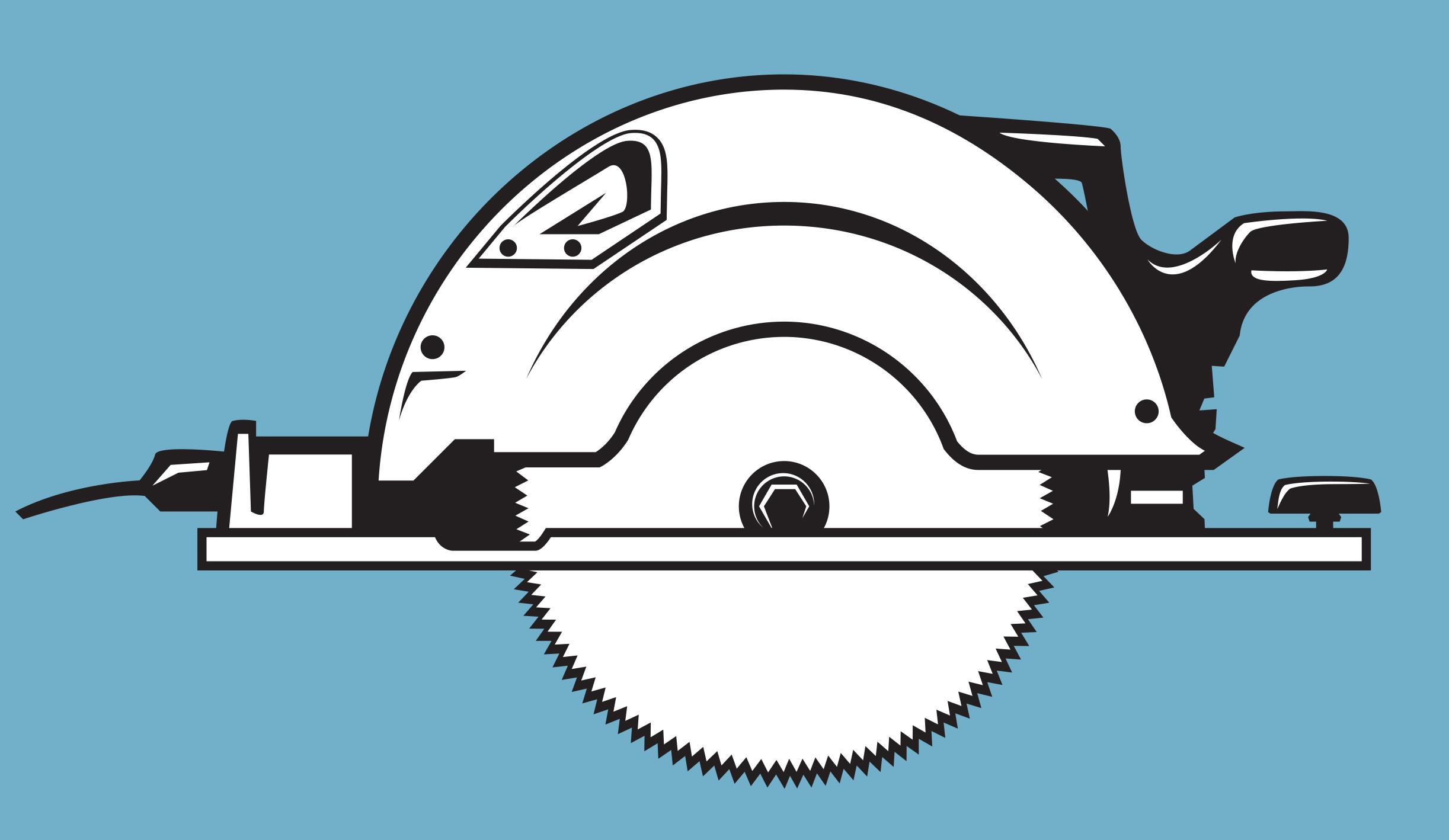 Circular Saw Line Art