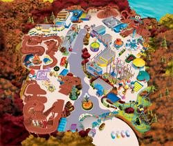 Sesame Place Halloween Map Art