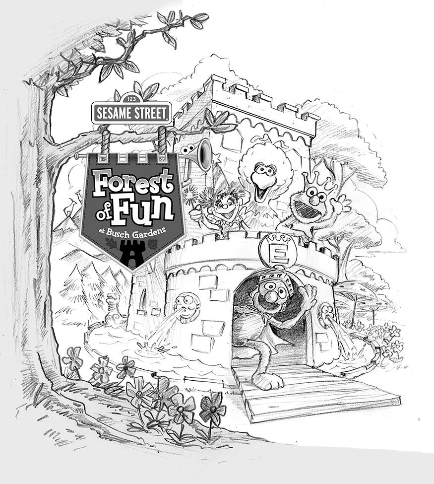 Forest of Fun Key Visual for Busch Garde
