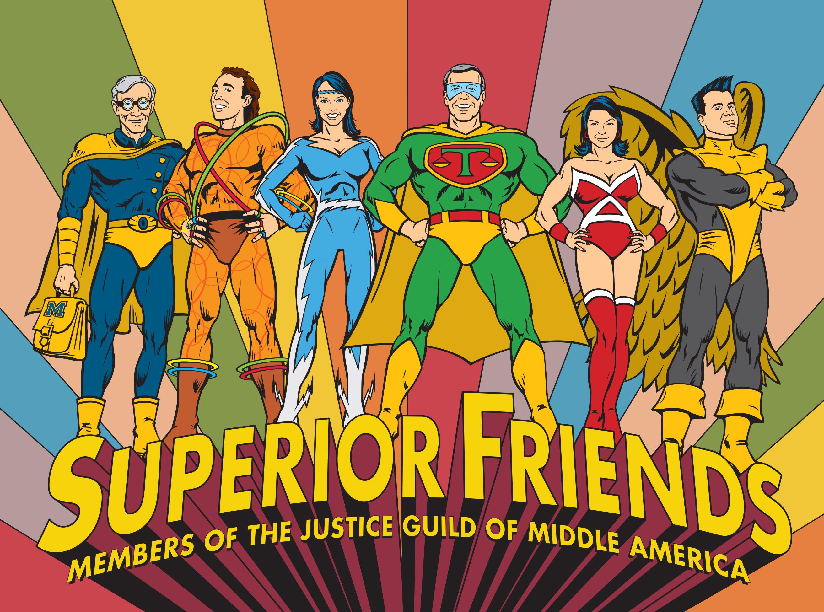 Lawyer Superhero Illustration