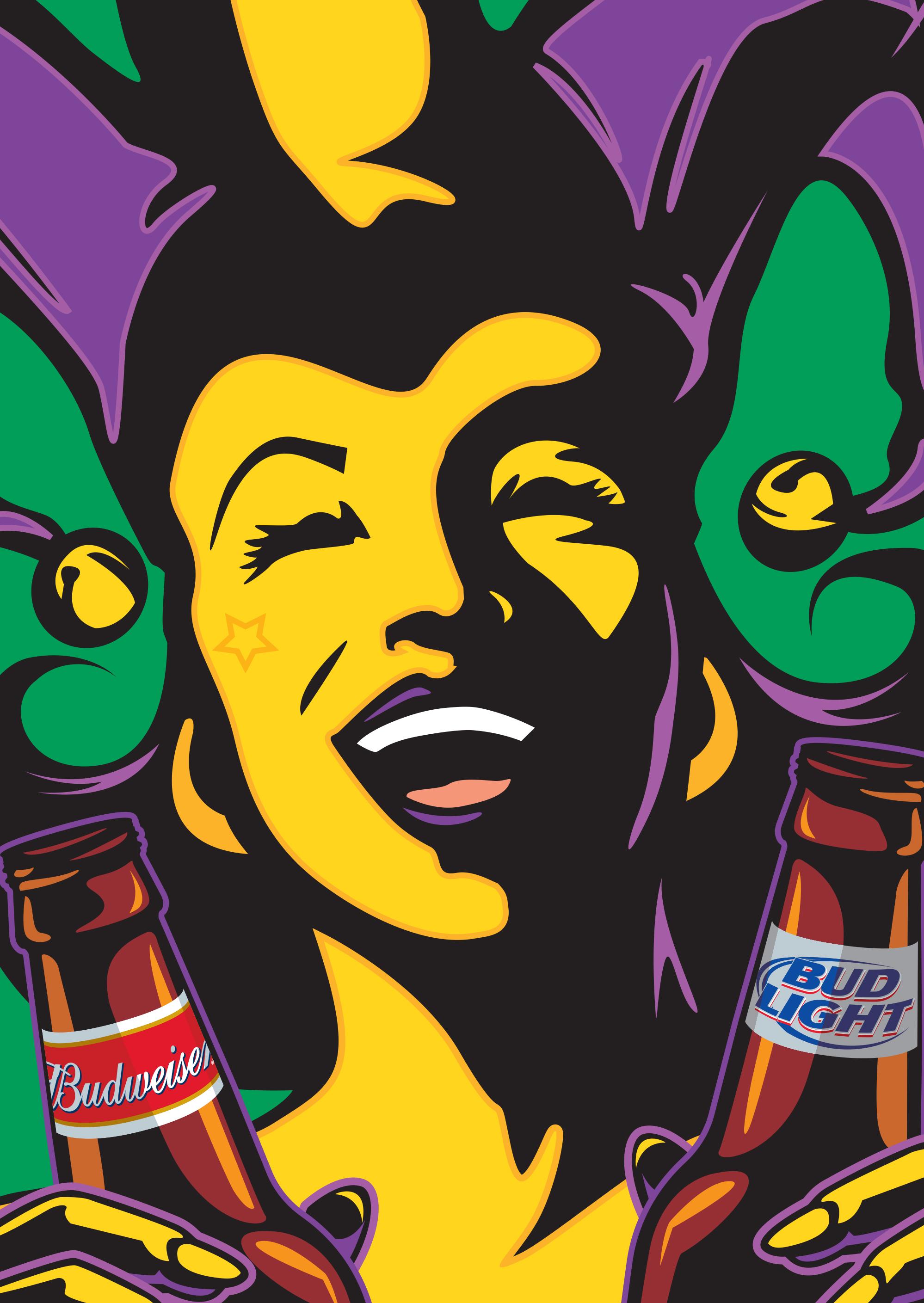 Budweiser Mardi Gras Poster