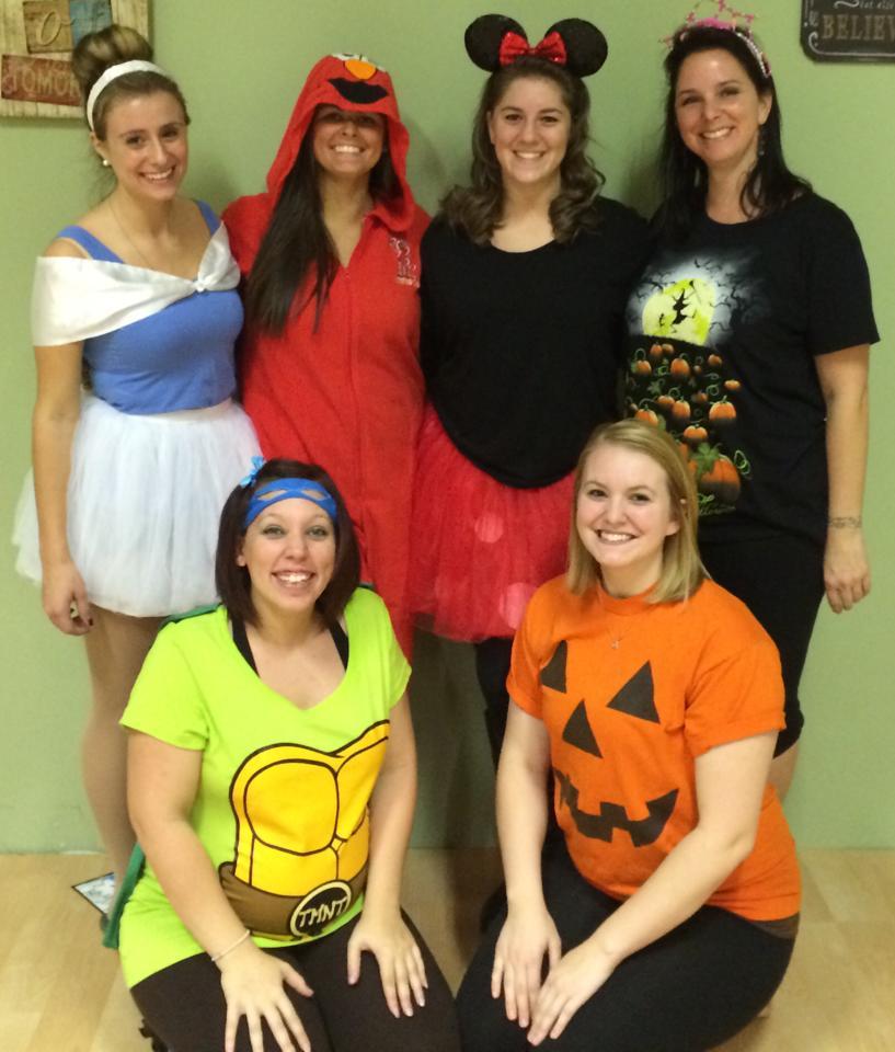 Staff at Halloween