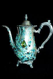 Silver Teapot,craft beads