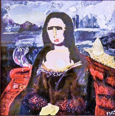 Collage of Mona Lisa