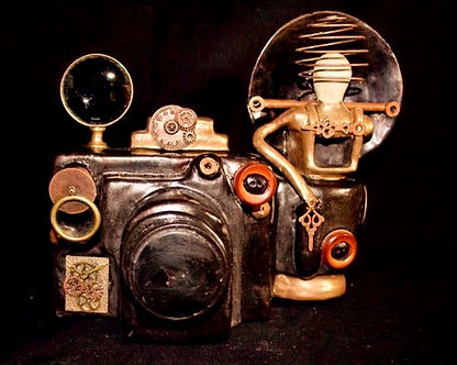 Steampunk Camera Ceramic Mixed Media