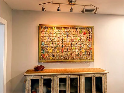 Recycled Glass/Wood Frame Wall Art