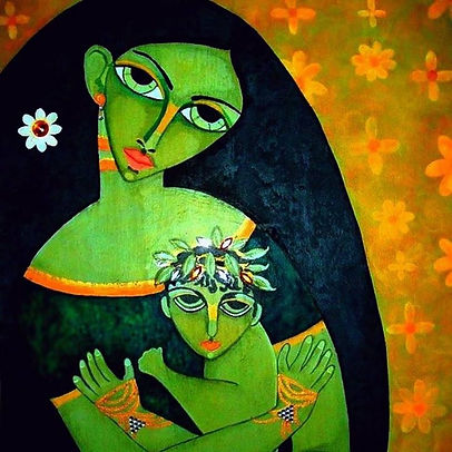 Picasso Style Madonna& Child
