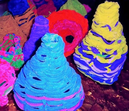 Coral made of Pipecleaners