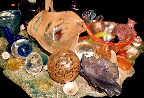 Mixed Media Recycled Glass Ceramic Base