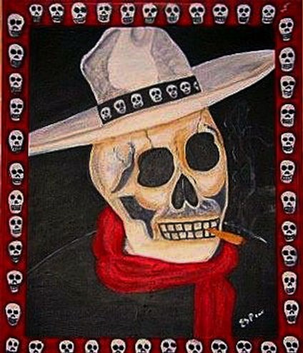El Caballero - Day of the Dead/Acrylic