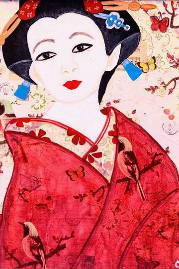 Japanese  Geisha Girl