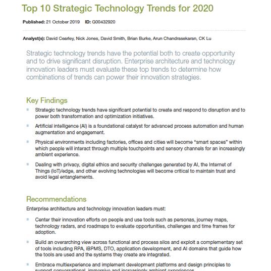 GARTNER   Top 10 Technology Trends