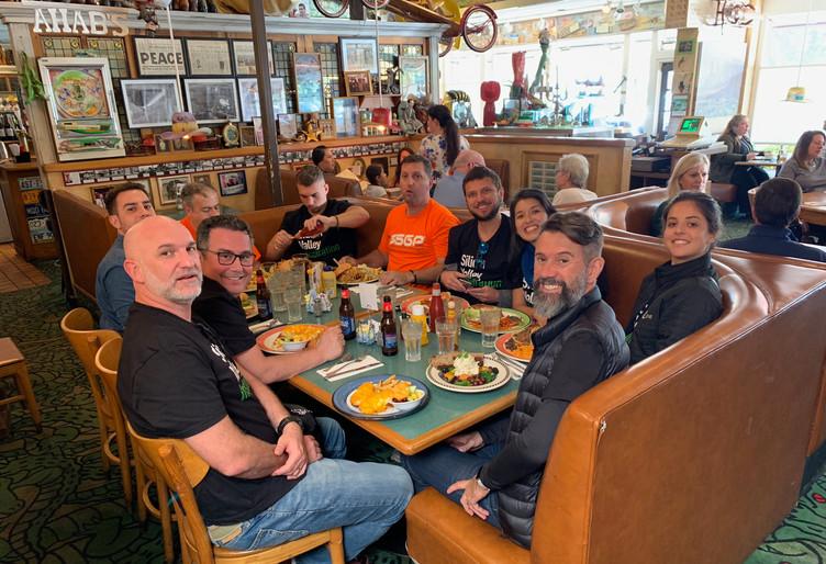 Almoço no restaurante emblemático do Vale do Silício.