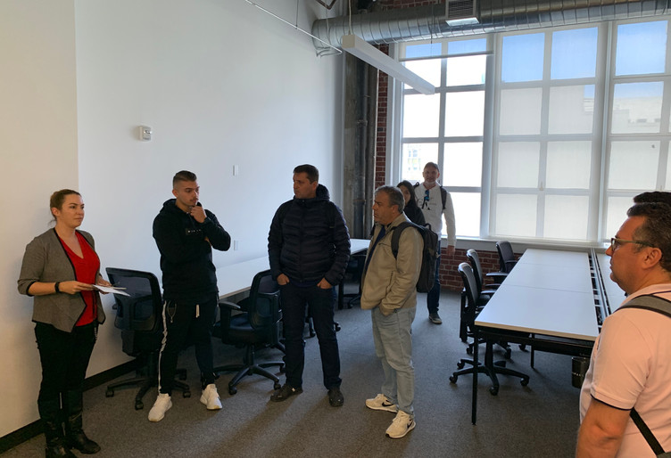 Visita à TechSpace.