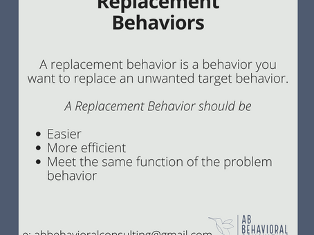 3 Things to know about a Replacement Behavior