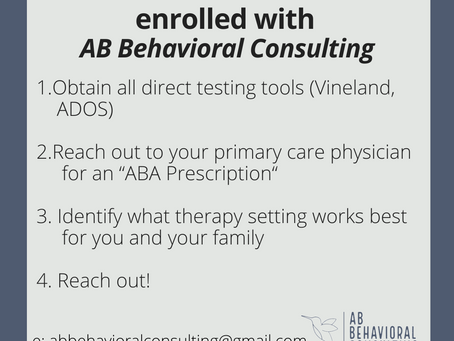 4 Easy steps to get enrolled in ABA services