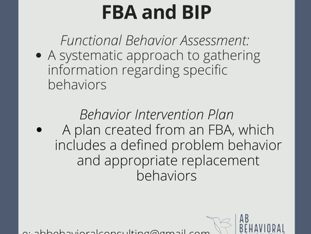 What is a Functional Behavior Assessment and Behavior Intervention Plan?