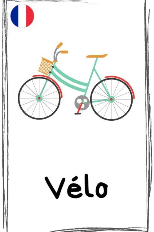 """Набор французских карточек """"Transport"""" (18 шт.)"""