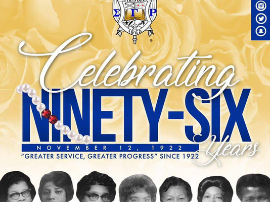 """Celebrating 96 Years of """"Greater Service, Greater Progress"""""""
