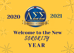 Welcome to the 2020-2021 Sorority Year!