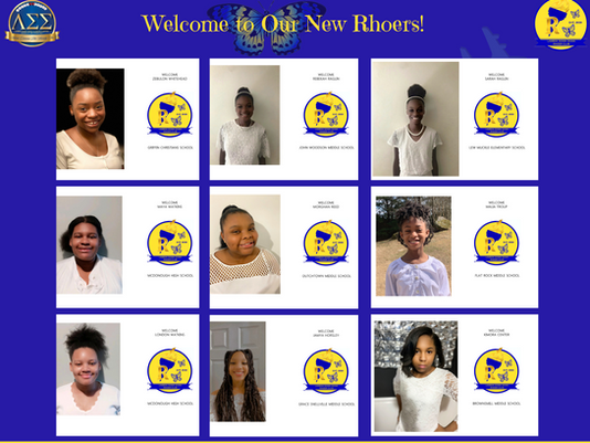 """Here we """"Grow Again"""" - Welcome our new Rhoers!"""