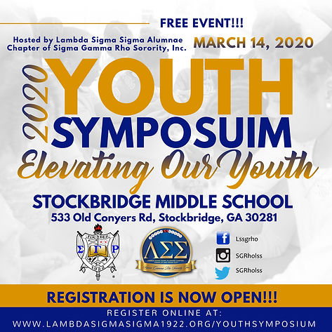 2020 Youth Symposium save the date flyer