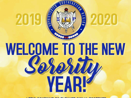 Welcome to the 2019-2020 Sorority Year!