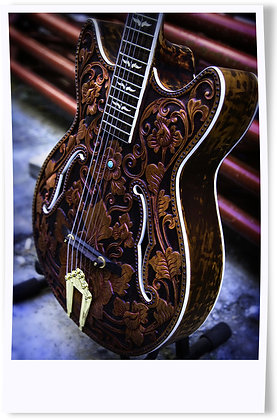 Flowerish Carved Guitar