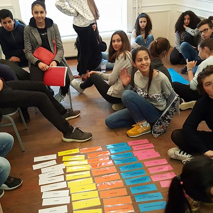 Interactive workshop on diversity with students from Lycée Emile Jacqmain