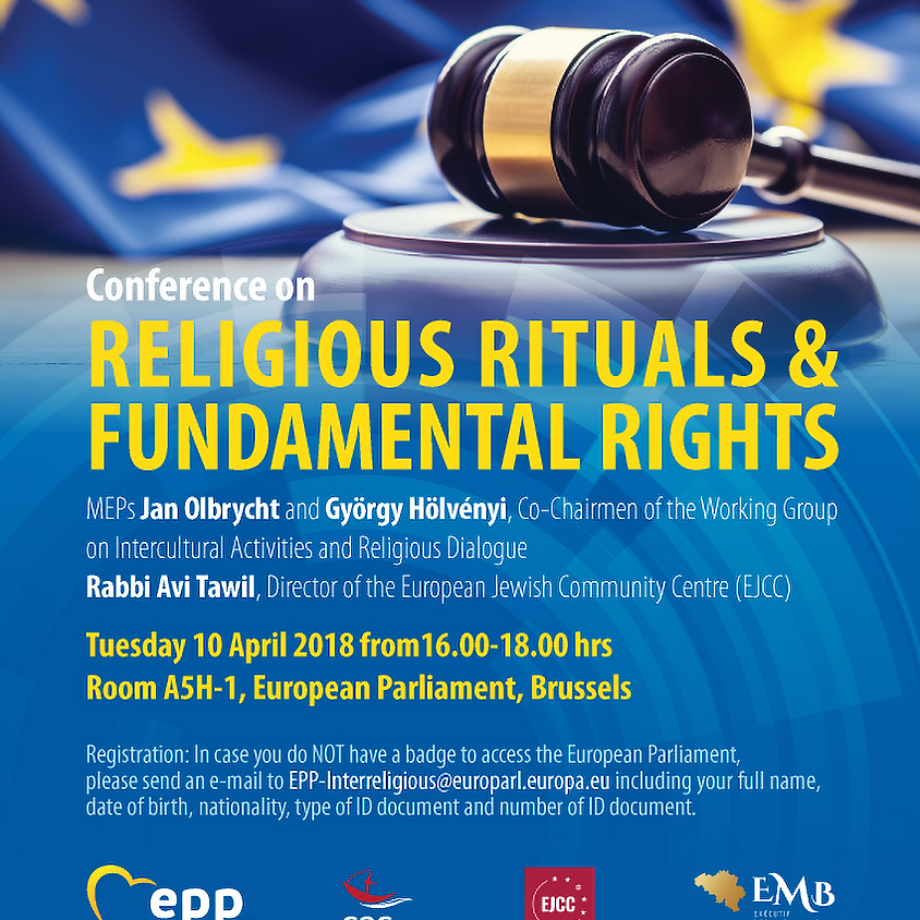 """Conference in the European Parliament on """"Religious Rituals and Fundamental Rights""""."""