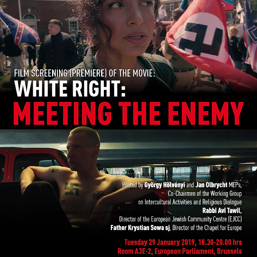"""Film Screening at the European Parliament – """"White Right: Meeting the Enemy"""""""