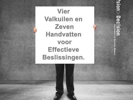 Beslissen in onzekere tijden: zeven concrete handvatten voor effectief beslissen in Managementteams.