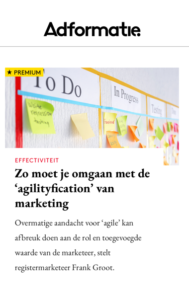 Agilityfication in de Adformatie