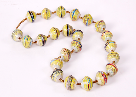 JOHARI - RE-CYCLED PAPER NECKLACE - HANDMADE