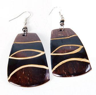 Johari Coconut Shell Earring