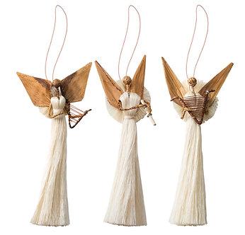 Johari Handmade Angels - Harp/Flute/Star