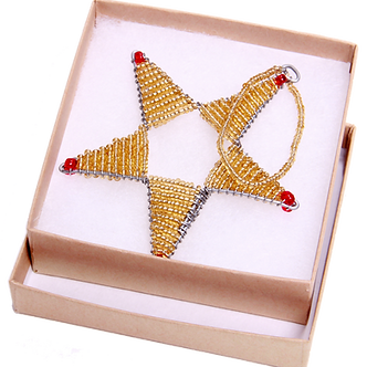 JOHARI BEADED STAR ORNAMENT - HANDMADE