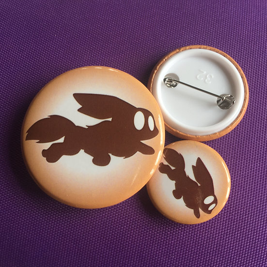 Eevee Silhouette - Badge
