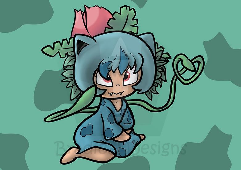 Ivysaur Gijinka Girl - Print