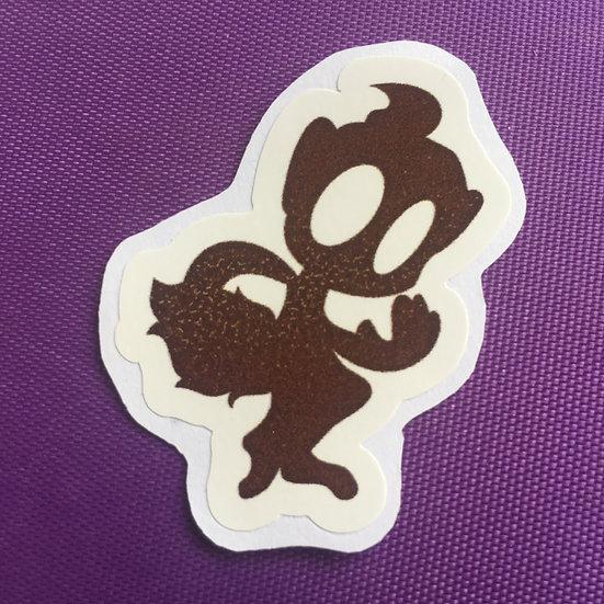 Chimchar Silhouette - Sticker