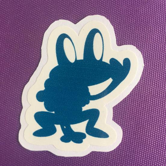 Froakie Silhouette - Sticker