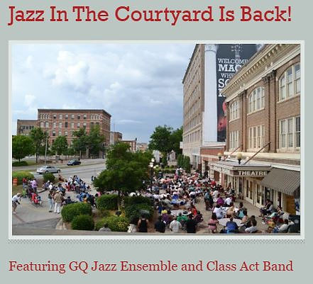 Douglass Jazz in Courtyard.JPG