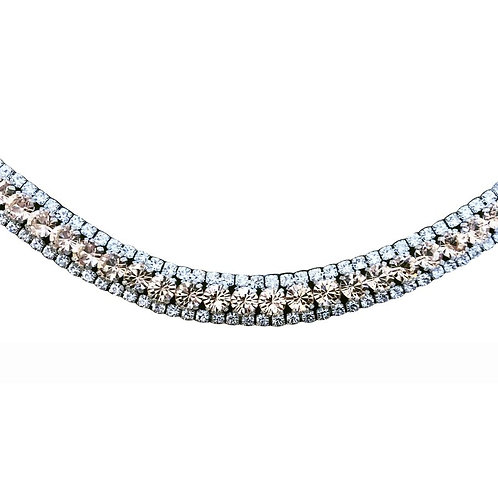 LUMIERE CHAMPAGNE CRYSTAL BROWBAND