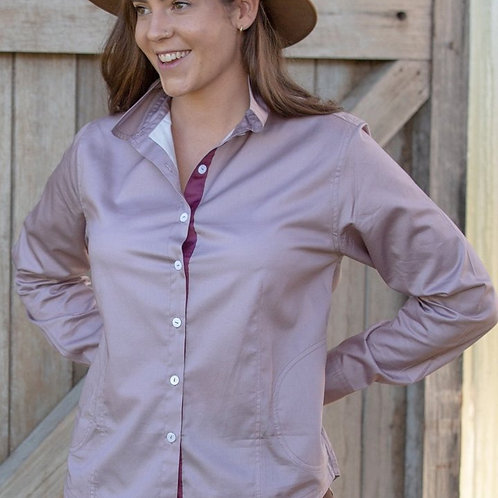 Tuk Tuk fitted shirt in Dust Pink or Midnight Navy