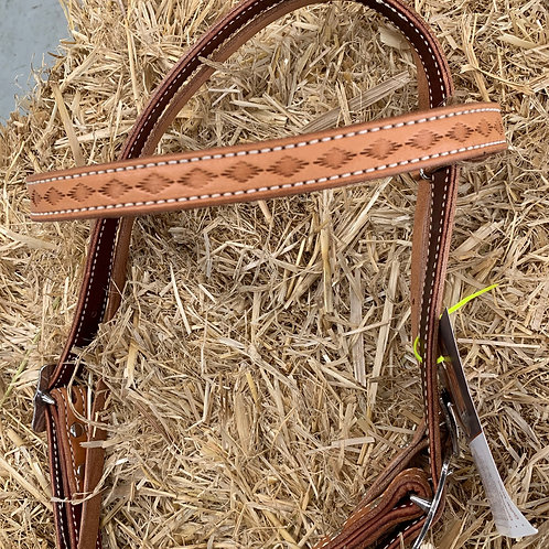 Hand crafted Herman Oak Bridle (no reins, headstall only)